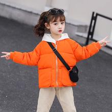 52251  女童棉衣外套2019新款时尚韩版中小童女孩短款大口袋棉服