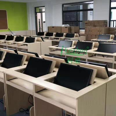 厂家直销 翻转式电脑桌 多功能办公桌隐藏 部队培训桌 双人  定制