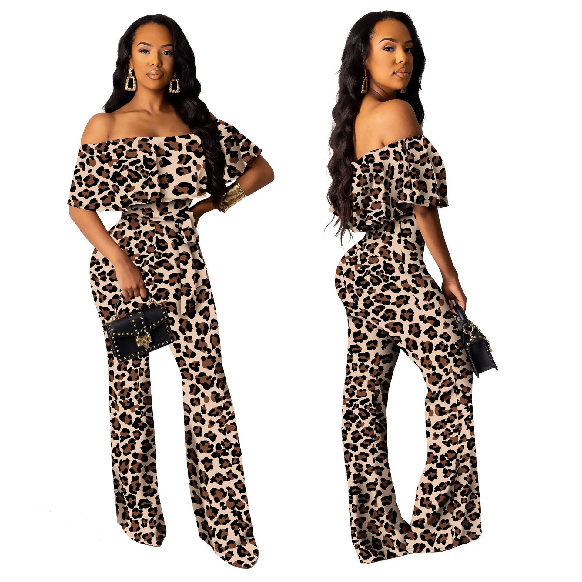 Fashion Word Collar Tube Top Jumpsuit Personalized Fashion Jumpsuit Jumps