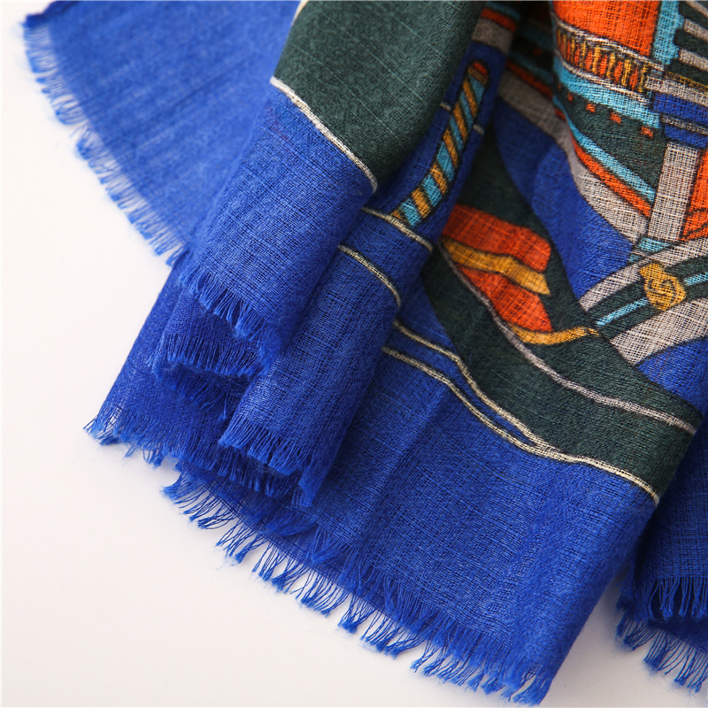 Burr cotton and linen scarves women's thin section shawl scarves travel scarf sunscreen beach towel NHGD180066