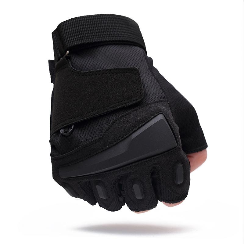 男秋冬运动半指手套夏特种兵户外用战术手套健身防滑骑行手套露指