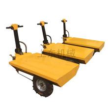 平板車 電動手推車 工地拉磚車庫房商場物料運輸車小型平板搬運車
