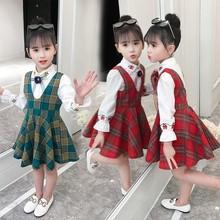 女童春秋套装2019新款儿童装韩版大童小女孩洋气连衣裙秋装两件套