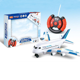 Aviation Model Two-way Airbus Remote Control Aircraft Children's Toys High Simulation Model Airliner Light Music