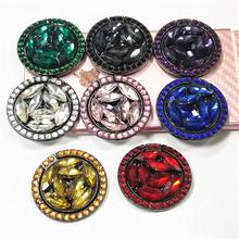 金屬圓形電鍍水鉆手機支架鑲鉆潮女款潮牌新款指環支架