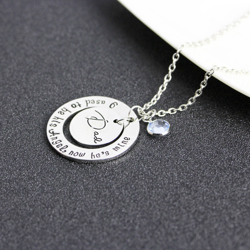 New fashion round ray empty Dad Father's Day gift pendant necklace yiwu nihaojewelry wholesale NHMO208190