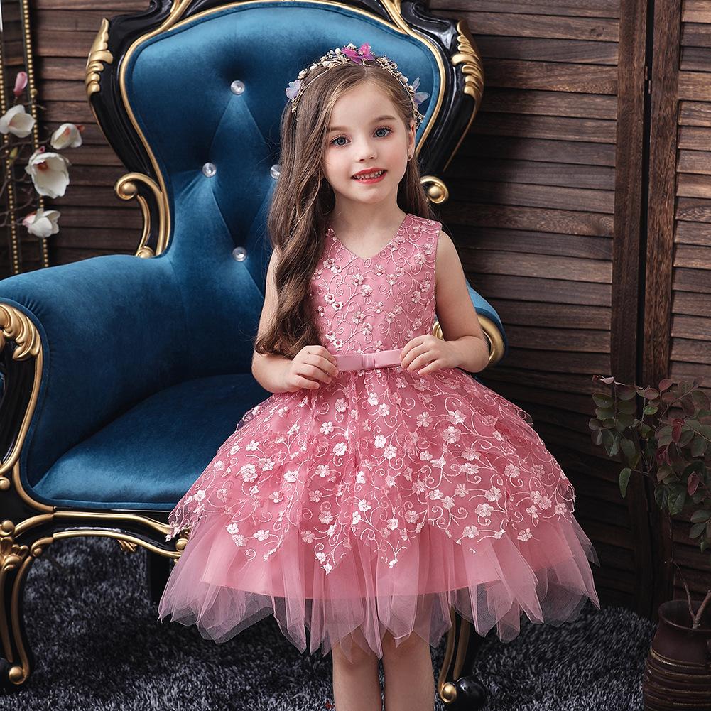 新款童装宝宝礼服裙儿童公主裙周岁女童蓬蓬裙中小童幼儿园表演服