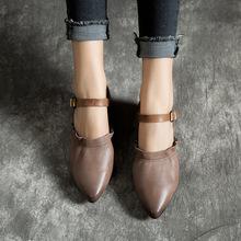【厂家】2019?#21512;男?#21697;英伦复?#25490;?#38795;甜美可爱真皮凉鞋?#25351;?#23574;头单鞋
