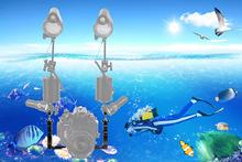 相机双握把托盘水下摄影配件装备潜水手电筒罩支架双手持补光灯臂