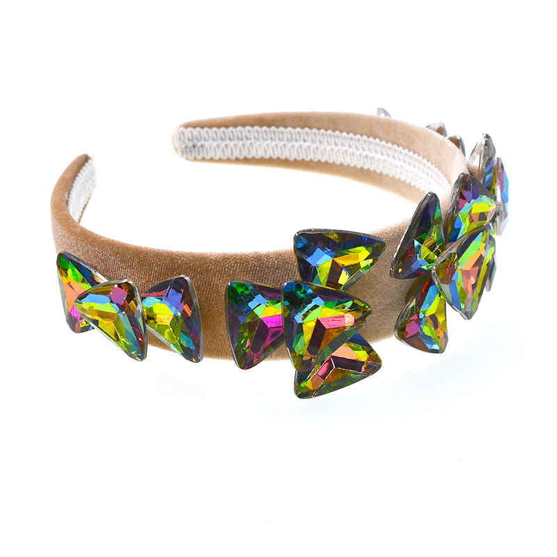 Womens geometric plating alloy Hair Accessories NHNT127350