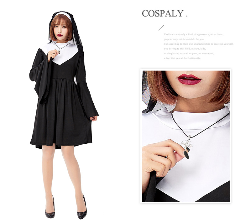 Halloween nuns 2019 new adult cosplay costume NHFE155294