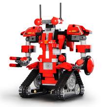 新款小颗粒智力积木机器人儿童电动遥控早教益智?#24179;蘢iy拼装玩具