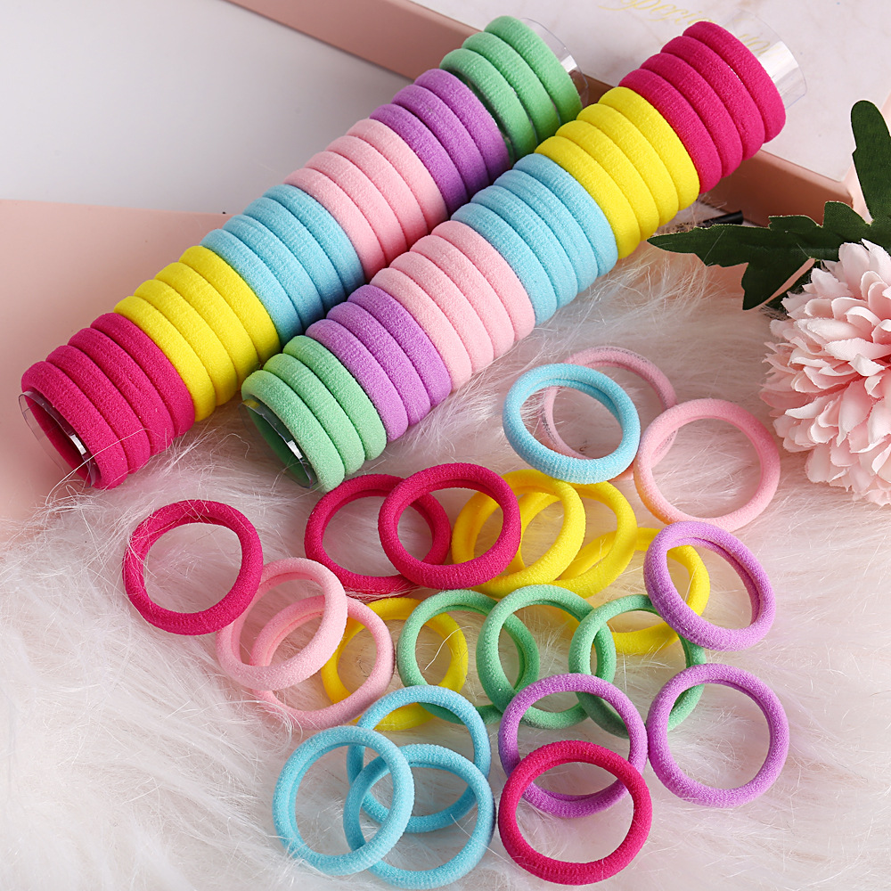 Head rope rubber band headwear simple solid color seamless seam rope high elastic hair ring NHPJ173083