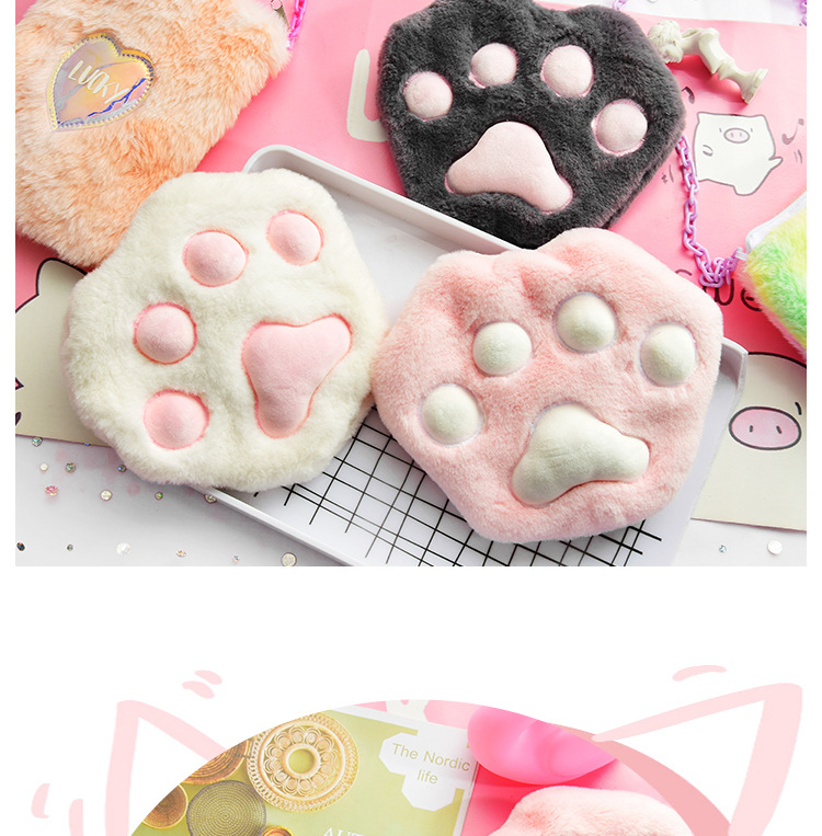 Creative plush hot water bottle cute hot water bag shoulder bag removable washable hand warmer wholesale NHHE191741