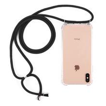 新適用三星S10歐美掛繩手機殼可伸縮滌綸尼龍掛脖斜跨Note10plus