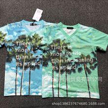日本貴牌童裝日單高端品牌bluecross原單外貿中大童速干t恤童半袖