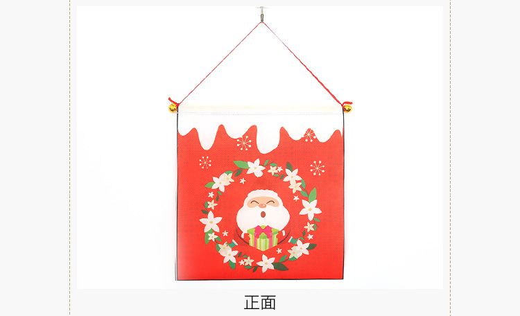 New style Christmas decoration supplies couplet hanging cloth hanging door hanging wholesale NHHB182576