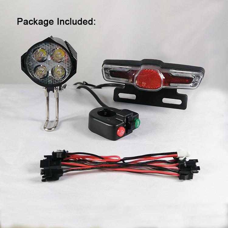 ebike LED Light 24V 36V 48V 60V 72V 15W electric bike headlight Waterproof