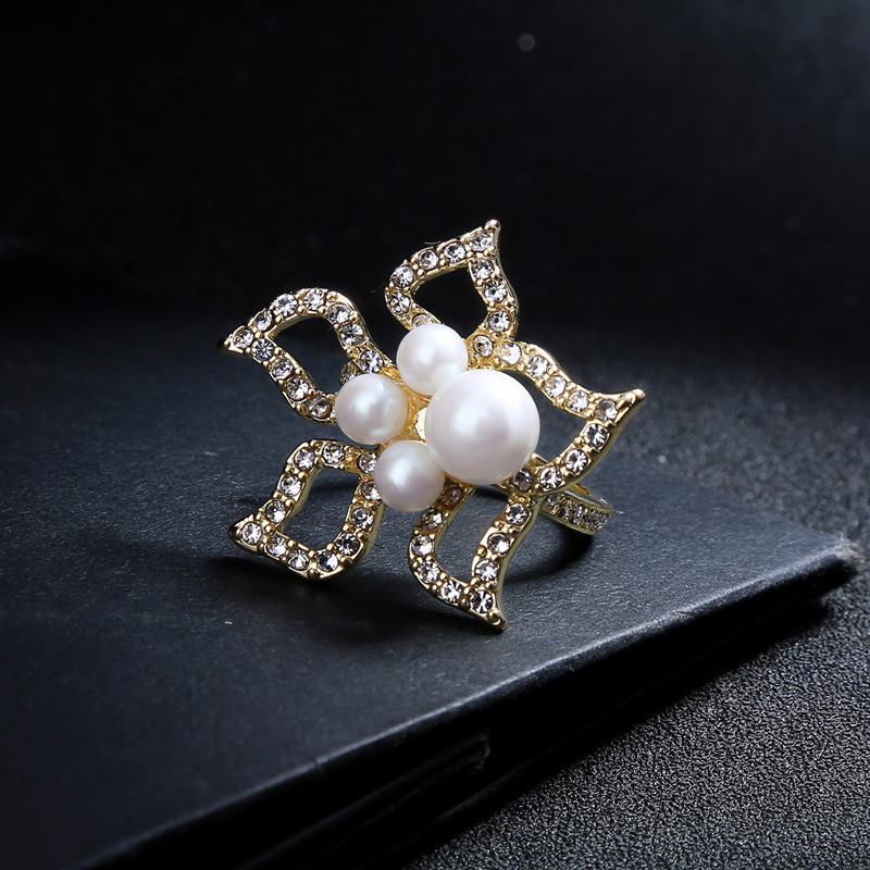 Alloy Fashion Flowers Ring  Photo Color  Fashion Jewelry NHQD6285PhotoColor