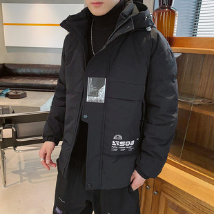 Men's padded jacket winter 2019 new padded jacket Korean version of the trend tooling padded jacket men's casual all-match thick padded jacket