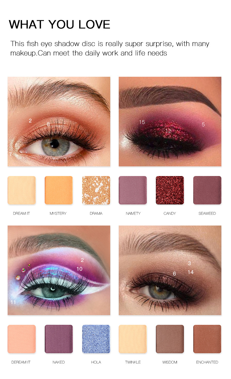 18 Color Eyeshadow Tray