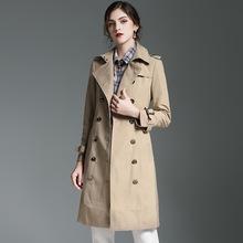 欧美高端品质2019秋季新款风衣女中长款英伦风防水时尚大牌外套潮