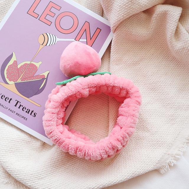 Ins rửa tóc ban nhạc dễ thương cô gái trái tim đào headband mặt nạ trang điểm ban nhạc tóc Hàn Quốc phụ kiện tóc Băng tóc