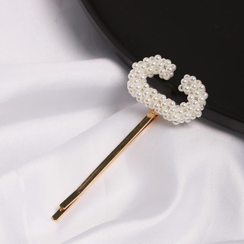 Womens  Beads Letter smiley girl hair clip NHJJ121719