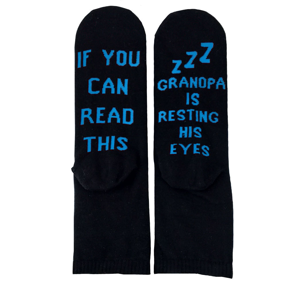 IF YOU CAN READ THIS series fashion socks wholesale NHYU193224
