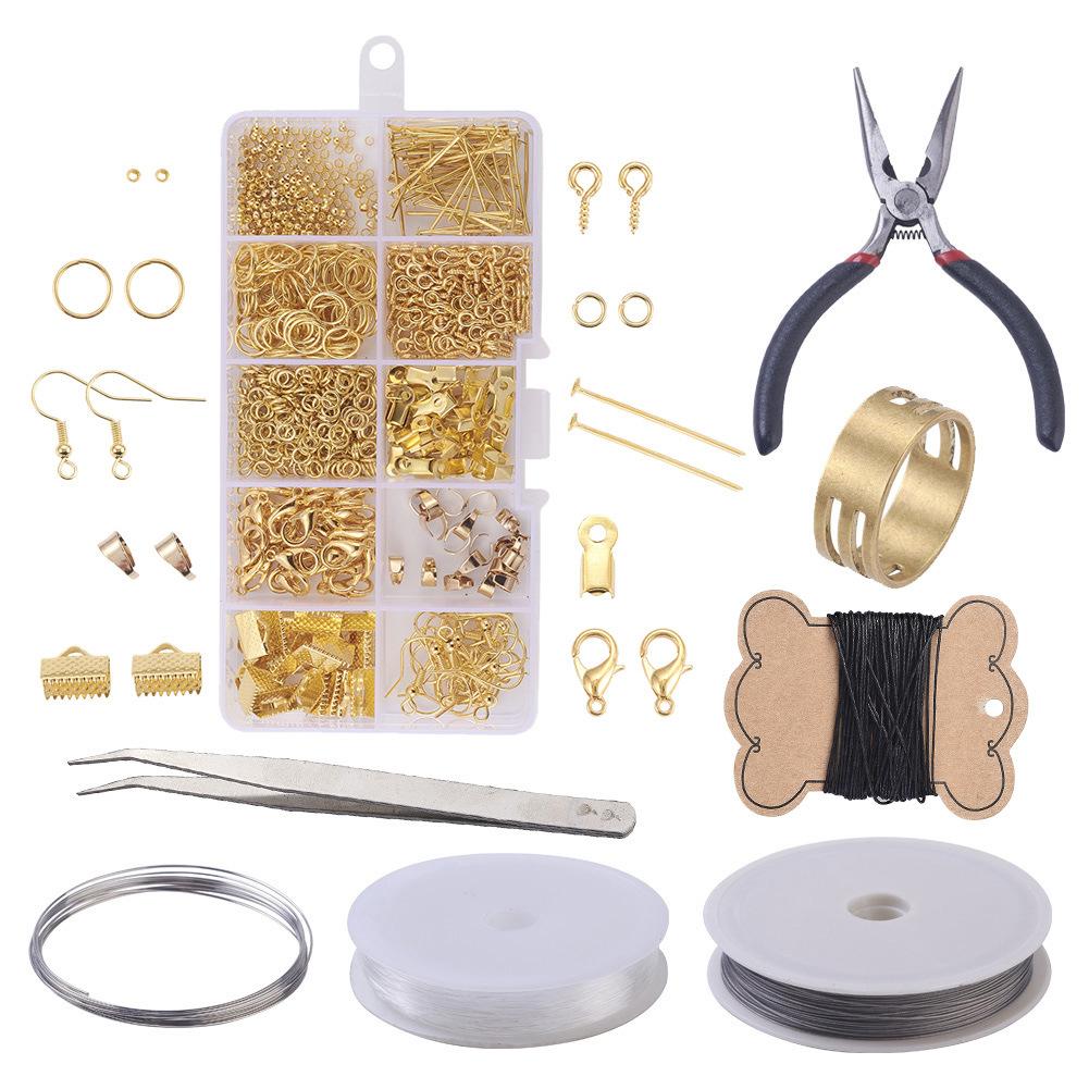 亞馬遜熱銷新品耳飾耳環手工配件材料包套裝帶工具diy飾品配件