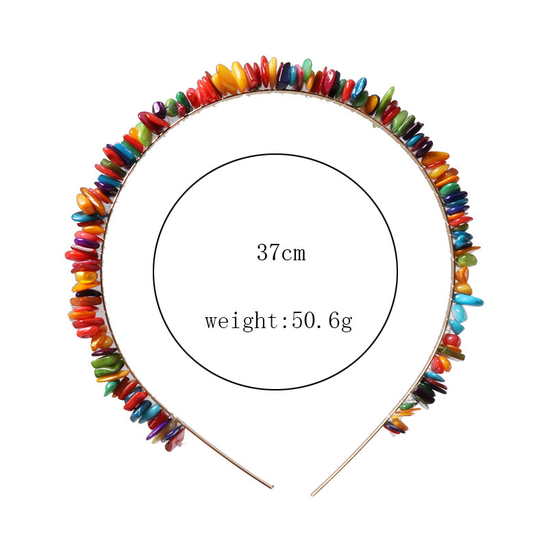 Womens  Resin Cute candy color small stone hair hoop NHJJ121725