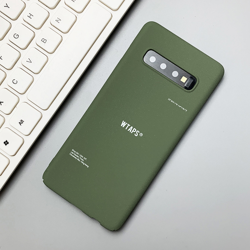 Simple matcha green Samsung note9 mobile phone case note10+ matte s8plus for s9+/s10+ hard shell NHDV176320
