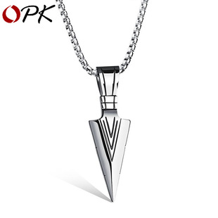 Titanium steel opens pet casket necklace NHOP172149