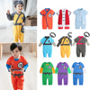 19 spring and autumn men and women baby Slub cotton Chinese style Newborn Jumpsuit Infants solar system 80092