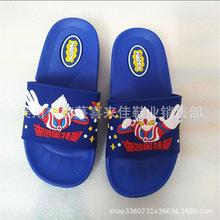 2019年吳川廠價直銷吹氣兒童滴塑拖鞋奧曼達超人吹氣拖鞋