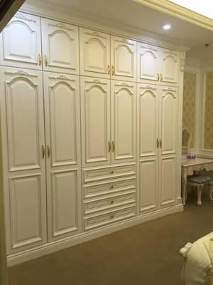 厂家直销  简易实木衣柜 新款美国白蜡柜 整体衣柜定制