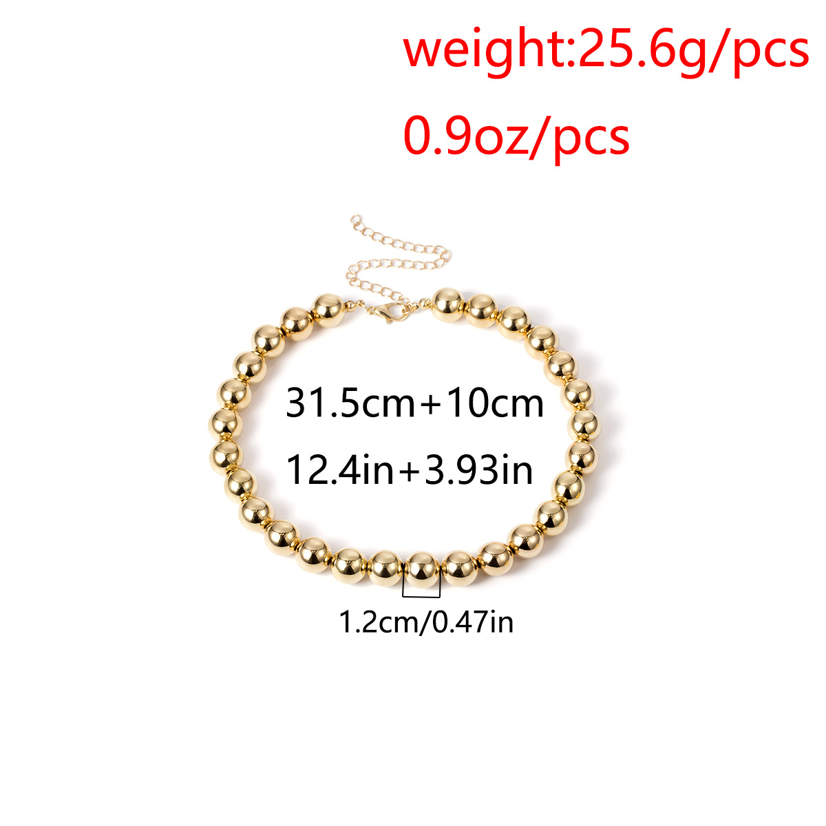 Creative exaggerated beaded short necklace NHXR141765