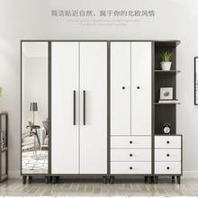 厂家直销经济型北欧卧室二门四门简易整体组合实木衣柜 新品上市