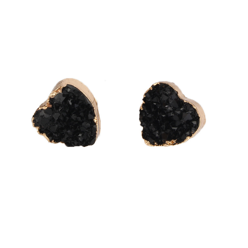 Womens Heart Shaped Plastic  Resin Beautiful and simple  Earrings GO190430119973