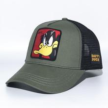 黑鴨子棒球帽Daffy卡通帽子兒童親子動漫人物鴨舌帽網帽一件代發