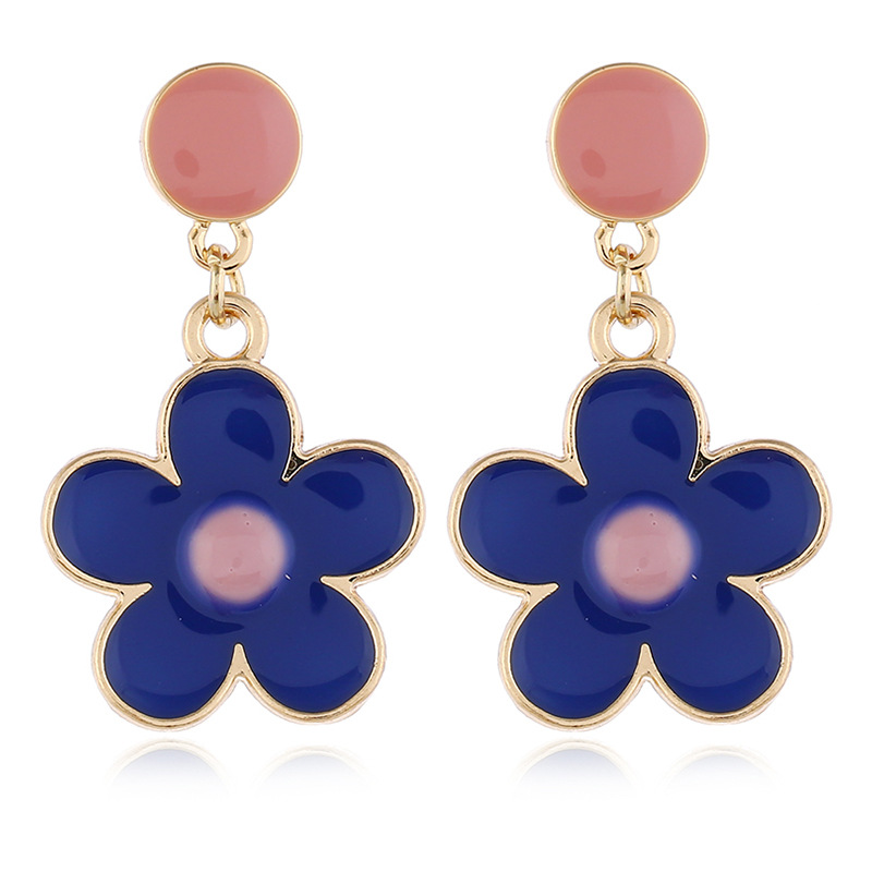 Fashion openwork paint five-pointed star wild star earrings NHKQ172868