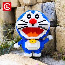 樂串66005哆啦A夢叮當貓串聯積木小顆粒馬里奧史迪仔KT貓拼裝玩具