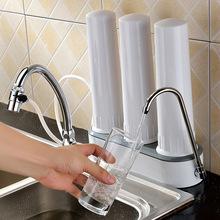 厂家批发家用净水器 台式直饮陶瓷过滤器 三桶超滤净水机三道款