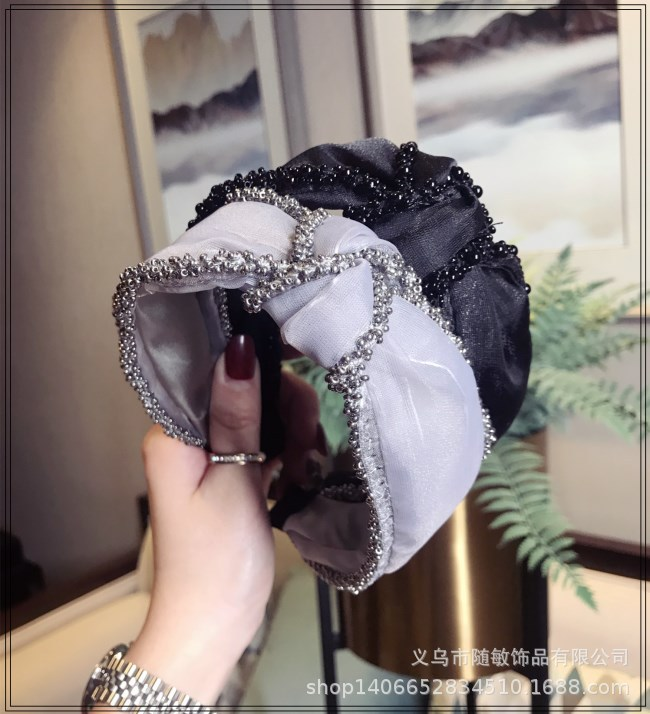 Cloth Korea Bows Hair accessories  black  Fashion Jewelry NHSM0408black