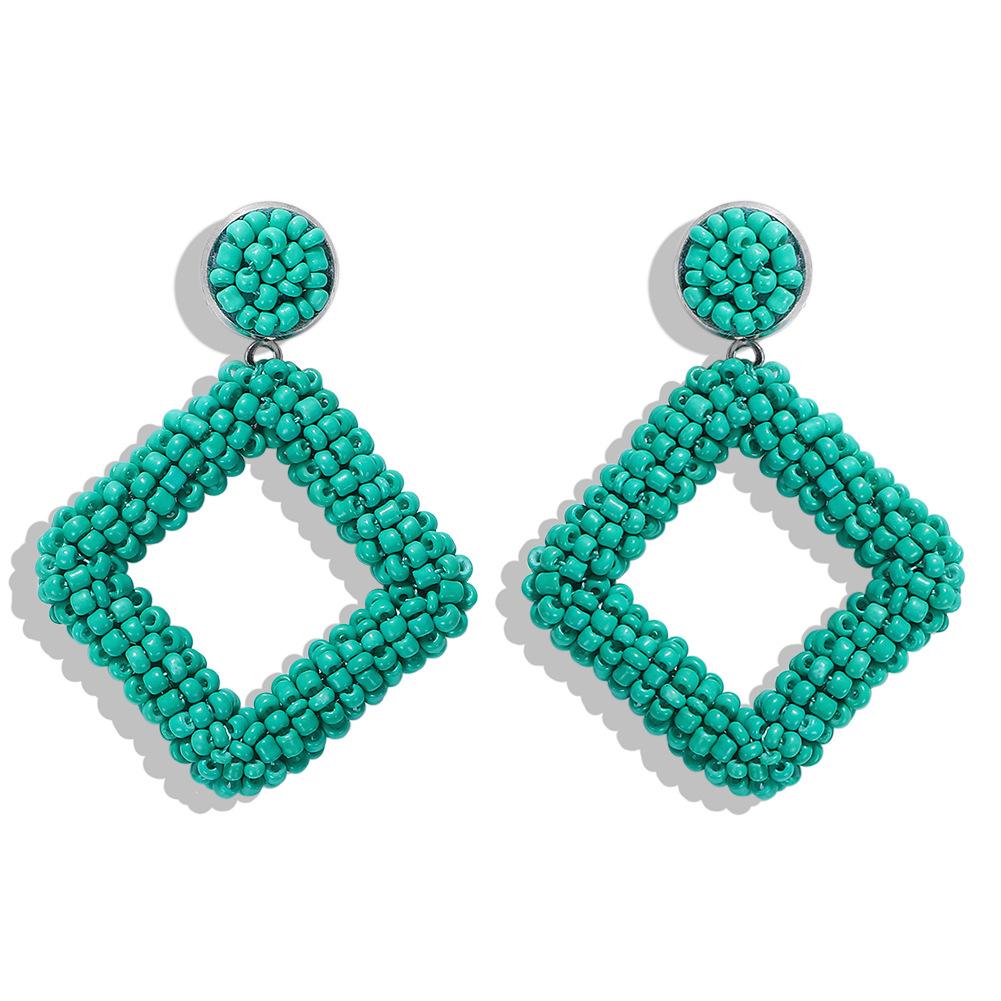 Boucles d39oreilles fantaisie perles gomtriques NHJQ153553