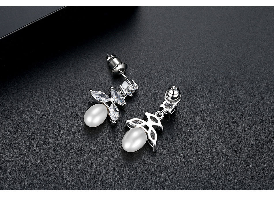 Alloy Korea Geometric earring  (Platinum-T02D28)  Fashion Jewelry NHTM0642-Platinum-T02D28