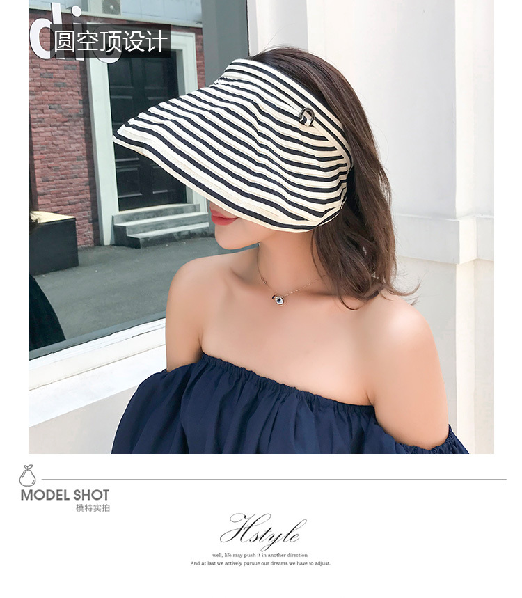 Fashion cover face foldable quickdrying empty top hat NHALD335981