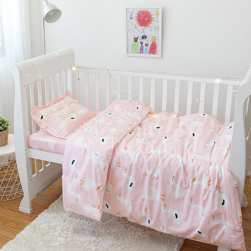 洁梦雅被子三件套纯棉儿童被褥婴儿宝宝床上用品含芯六件套