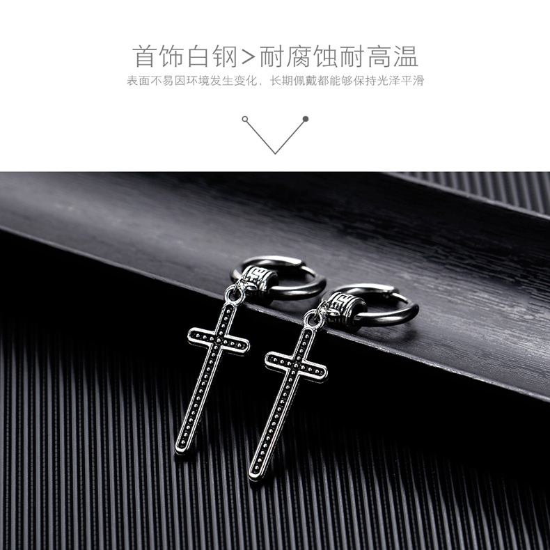 Womens Geometry Electroplated Stainless Steel Earrings NHOP123572