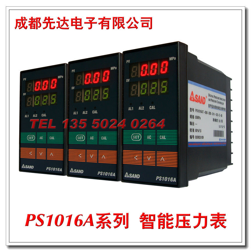 PS1016A系列 智能數字壓力顯示表/壓力計(高溫熔體壓力專用)